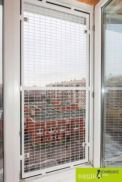 Сетки антикошка на окна