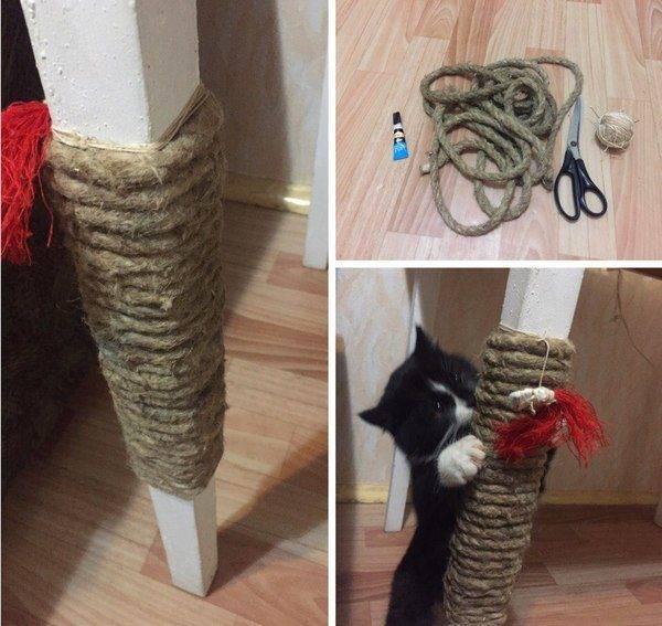 Когтеточки для кошек своими руками: поможем кошке и спасем мебель