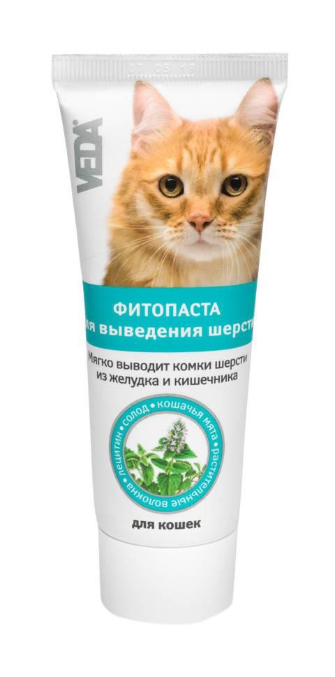 Корм и паста для кошек и котов для выведения шерсти из желудка   средство, гель