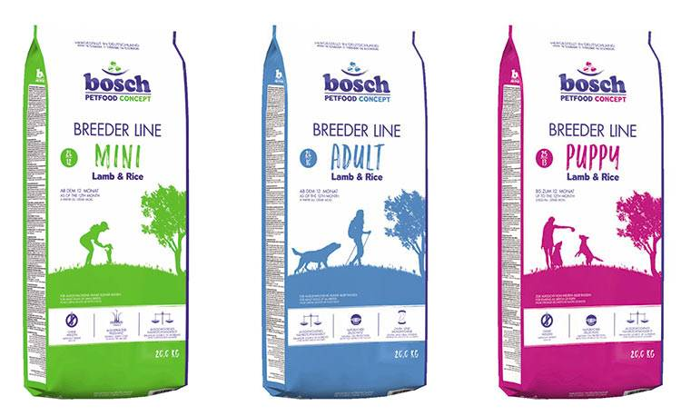 Корм bosch («бош») для собак: описание и обзор линейки, состав, плюсы и минусы сухого питания