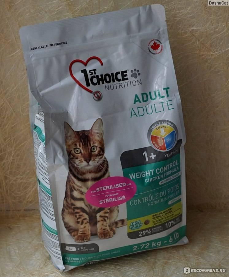 1st Choice для кошек: обзор корма Фест Чойс
