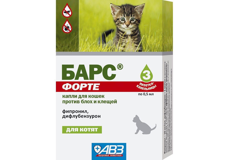 Капли барс: средство от блох и клещей для кошек, инструкция по применению, спрей, барс форте для котят