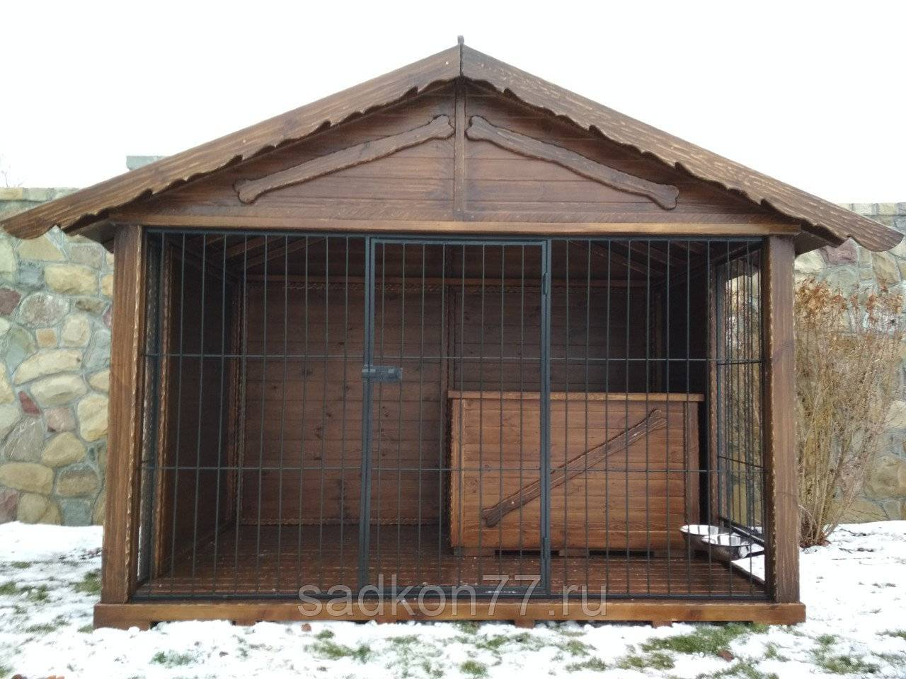 Вольер для овчарки (немецкой) во дворе частного дома