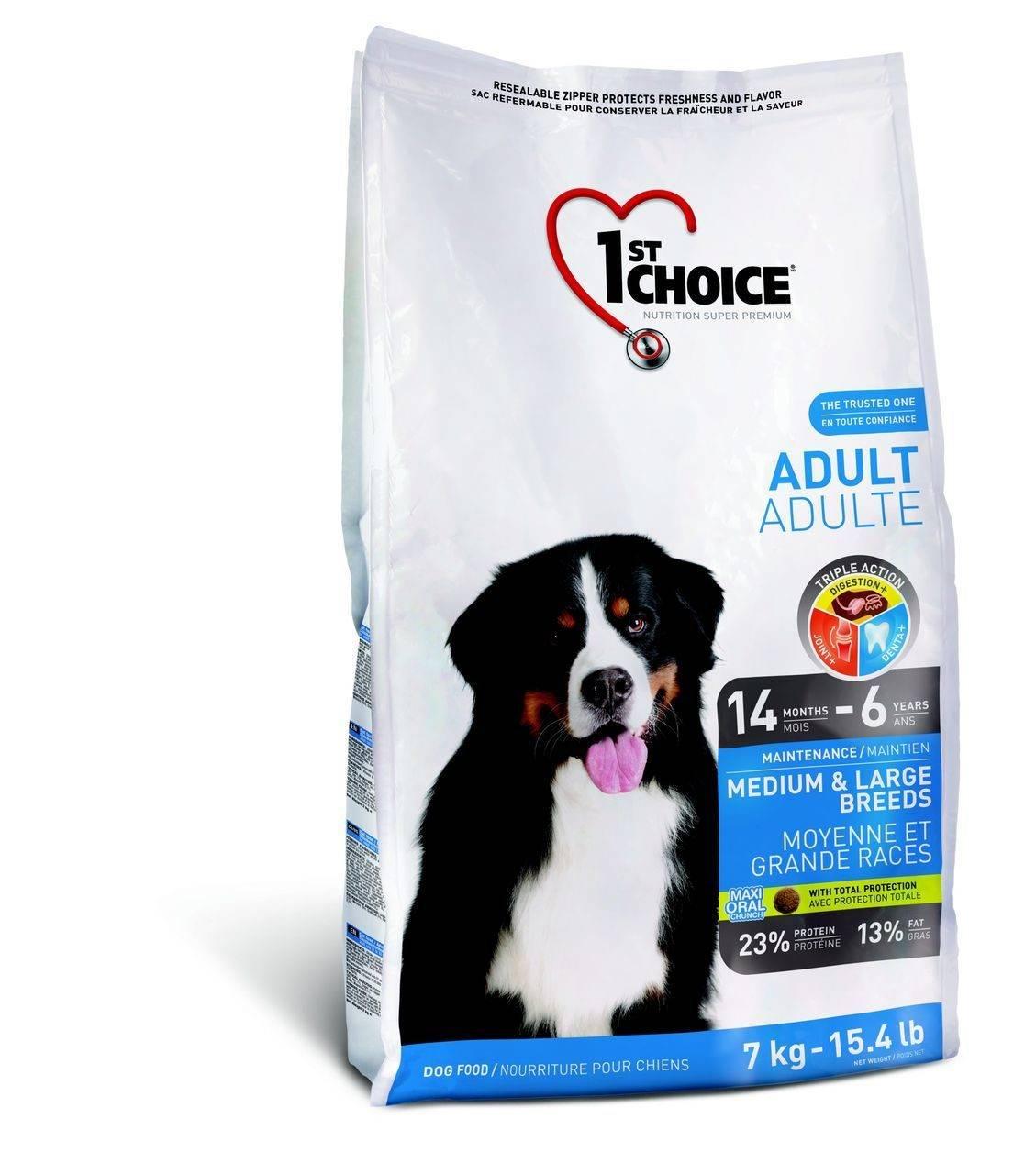 Корм 1st choice (фест чойс) для собак: отзывы, где купить, состав