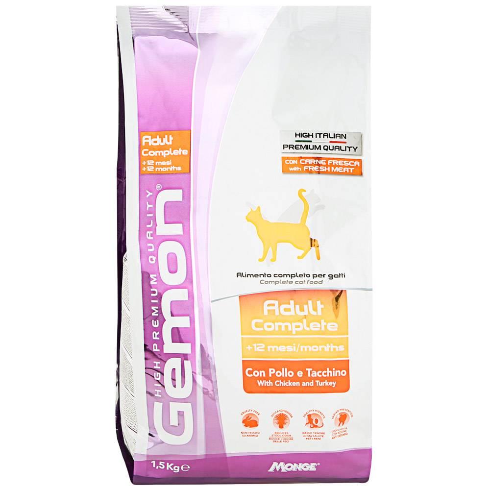 Корм для кошек гемон (gemon) — отзывы, цена, состав