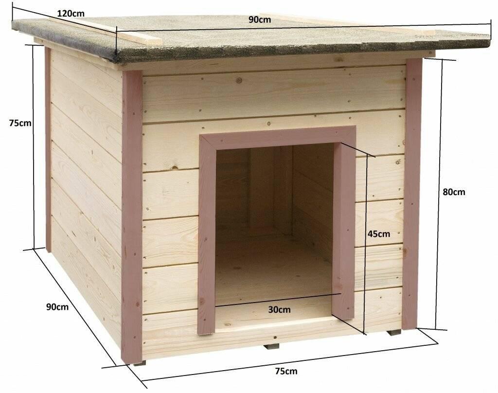 Собачья будка для немецкой овчарки: чертежи и размеры