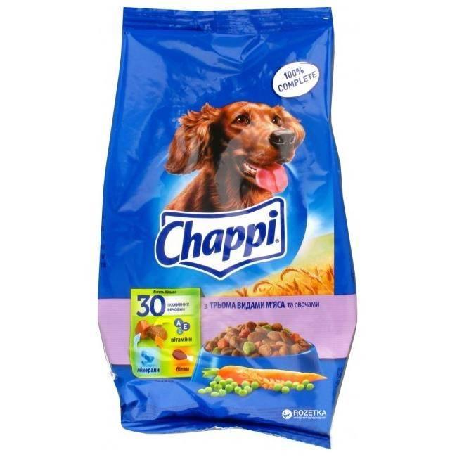 Чаппи (chappi) корм для собак   цена, состав, отзывы