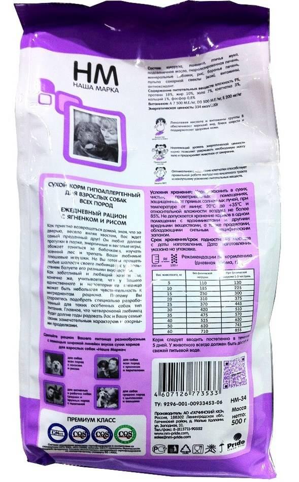 Гипоаллергенные корма для собак супер-премиум класса и холистик