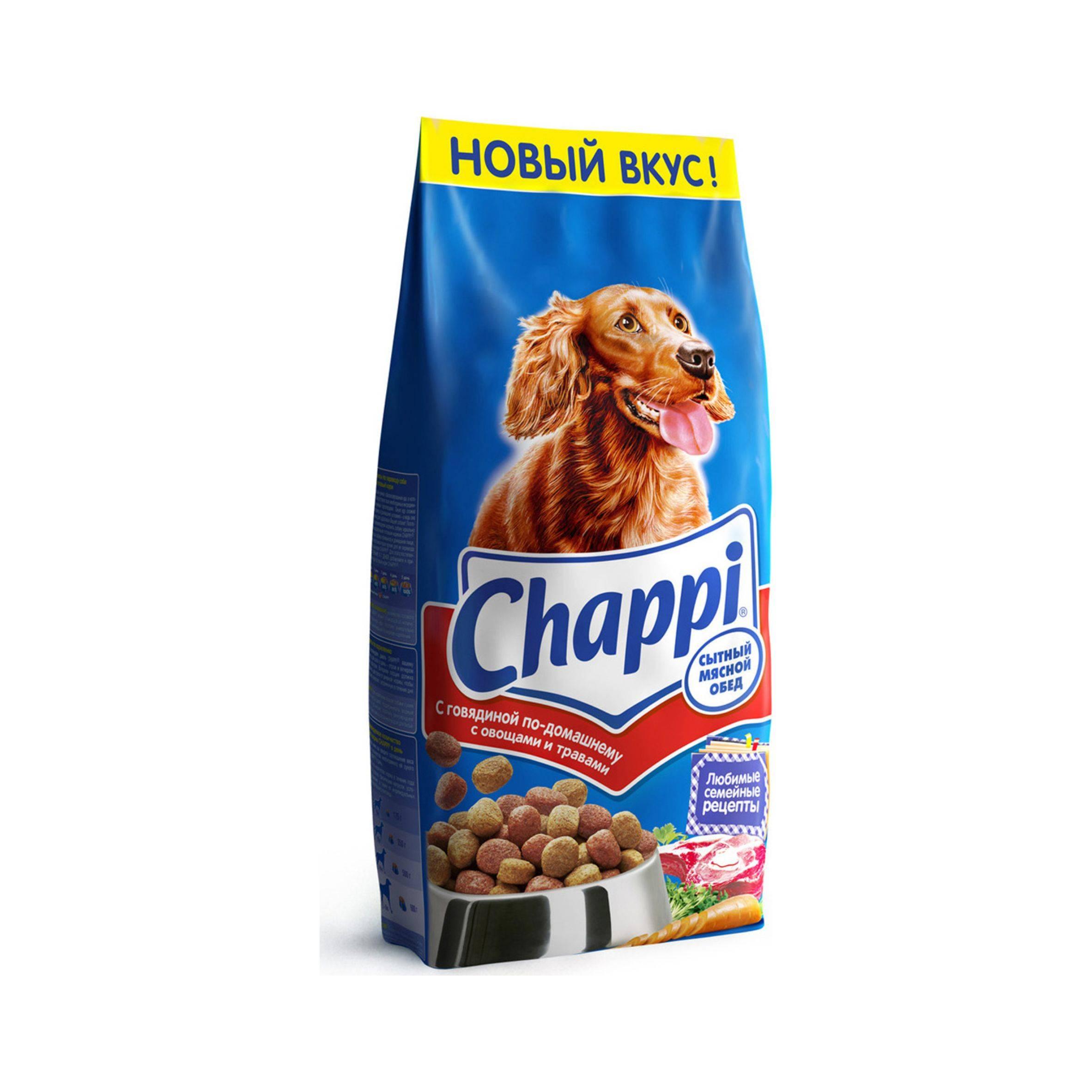 Сухой корм для собак chappi - обзор и отзывы