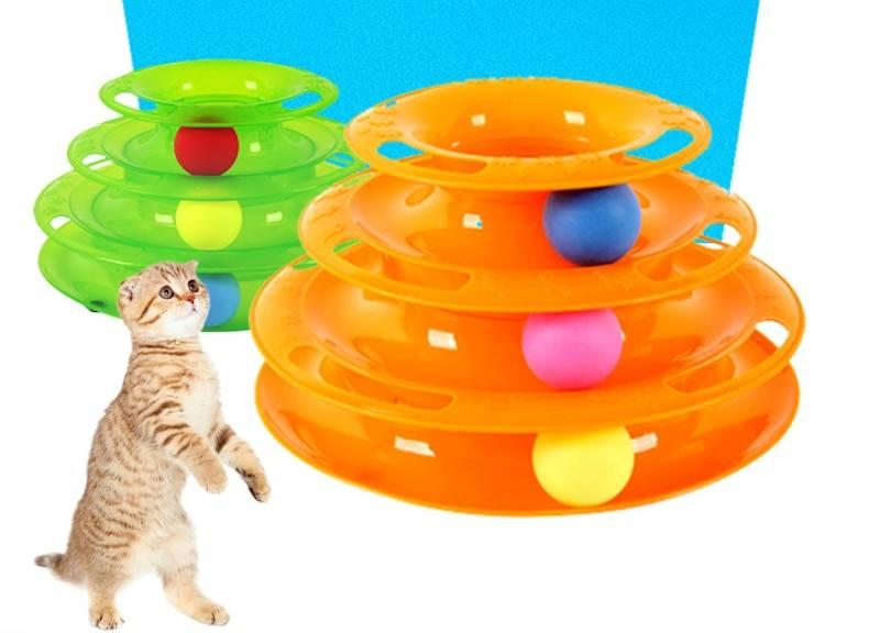 Игрушки для кошек: интеллектуальные, развивающие с шариком по кругу, лучшие автоматические и электронные, а также механические заводные
