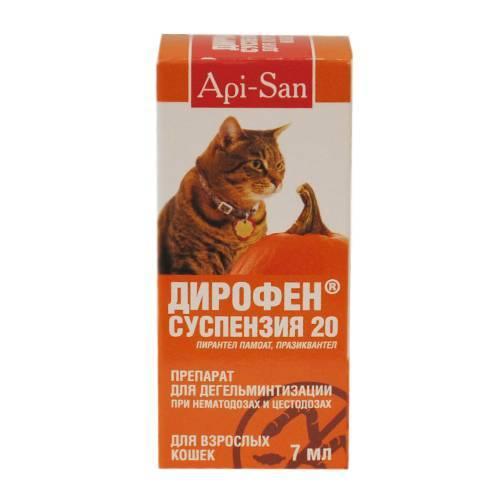 Инструкция по применению дирофена у кошек. рассчитайте оптимальную дозу препарата кошкам. изучите широту антгельминтного эффекта дирофена для комплексного лечения множества паразитарных патологий у кошек. улучшите эффективность терапии на 200%