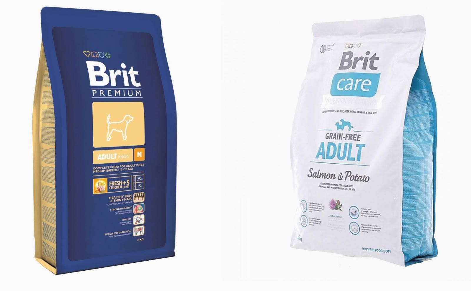 Корм для собак brit premium — характеристика и отзывы