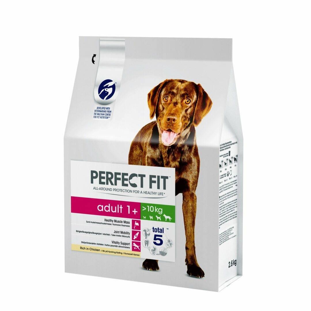 Подробное описание сухих кормов «перфект фит» для щенков и взрослых собак