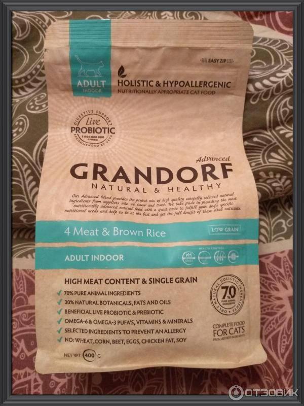 Grandorf: корм для кошек, ассортимент, состав, отзывы ветеринаров, отзывы владельцев