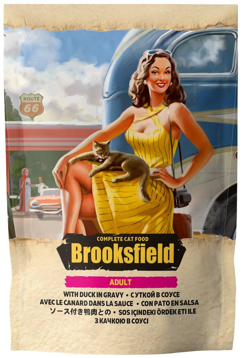 Brooksfield hairball для кошек вывод шерсти низкозерновой с говядиной