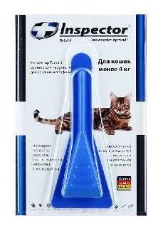 Капли инспектор для кошек – описание препарата и инструкция по применению