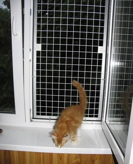 Какие сетки и решетки на окна используются для защиты кошек
