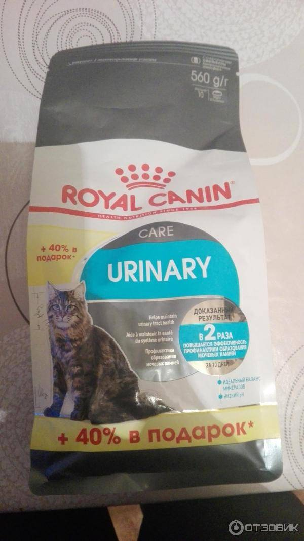 Роял канин уринари для кошек: лечебный корм