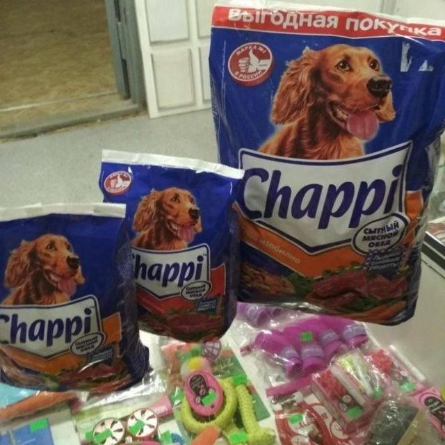 Корм чаппи для собак – описание, класс корма, стоимость, отзывы