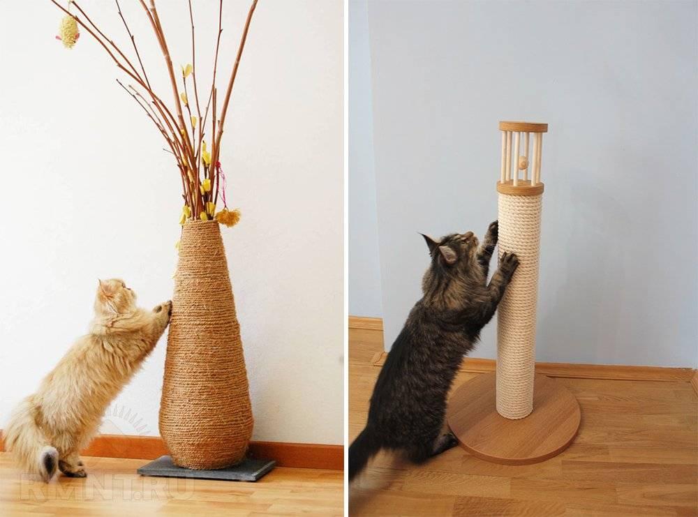 Когтеточка своими руками для кошек: пошаговая инструкция с фото