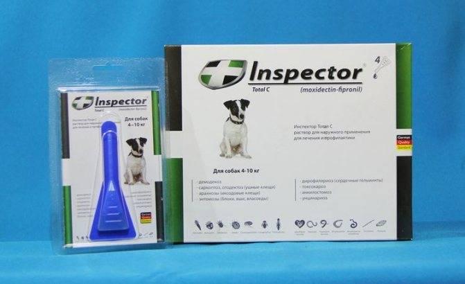 Инспектор капли для собак: инструкция по применению | отзывы, цена