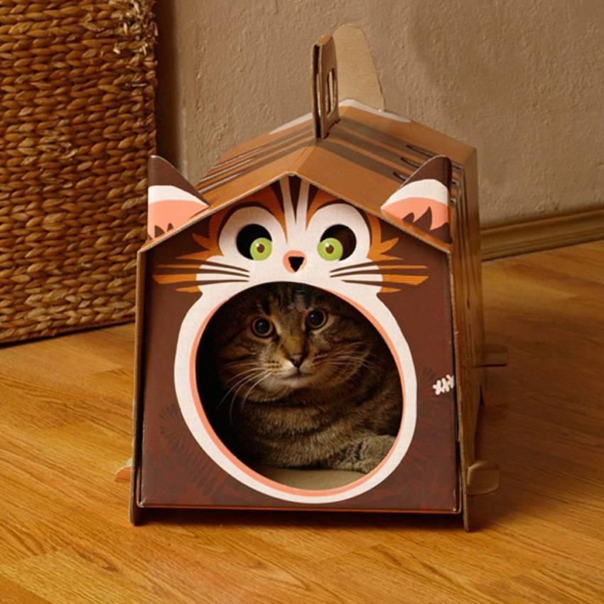 Лучшие домики для кошки: чертежи (120+ фото идей)