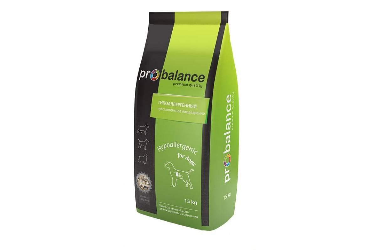 Сухой корм для собак probalance («пробаланс») — обзор и описание линейки, производитель, состав, виды, плюсы и минусы