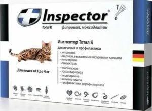 Капли инспектор для кошек от блох и клещей: преимущества и недостатки, правила применения и средняя цена в россии