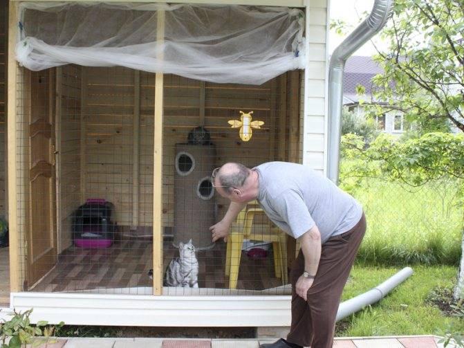 Изготавливаем для кошки вольер своими руками