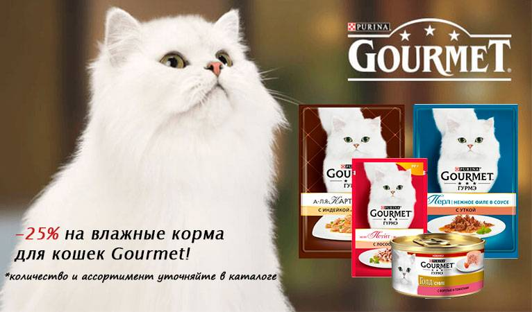 Корм гурме для кошек состав корма