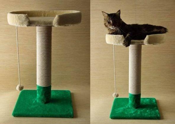 Как сделать когтеточку для кошек своими руками — пошаговая инструкция