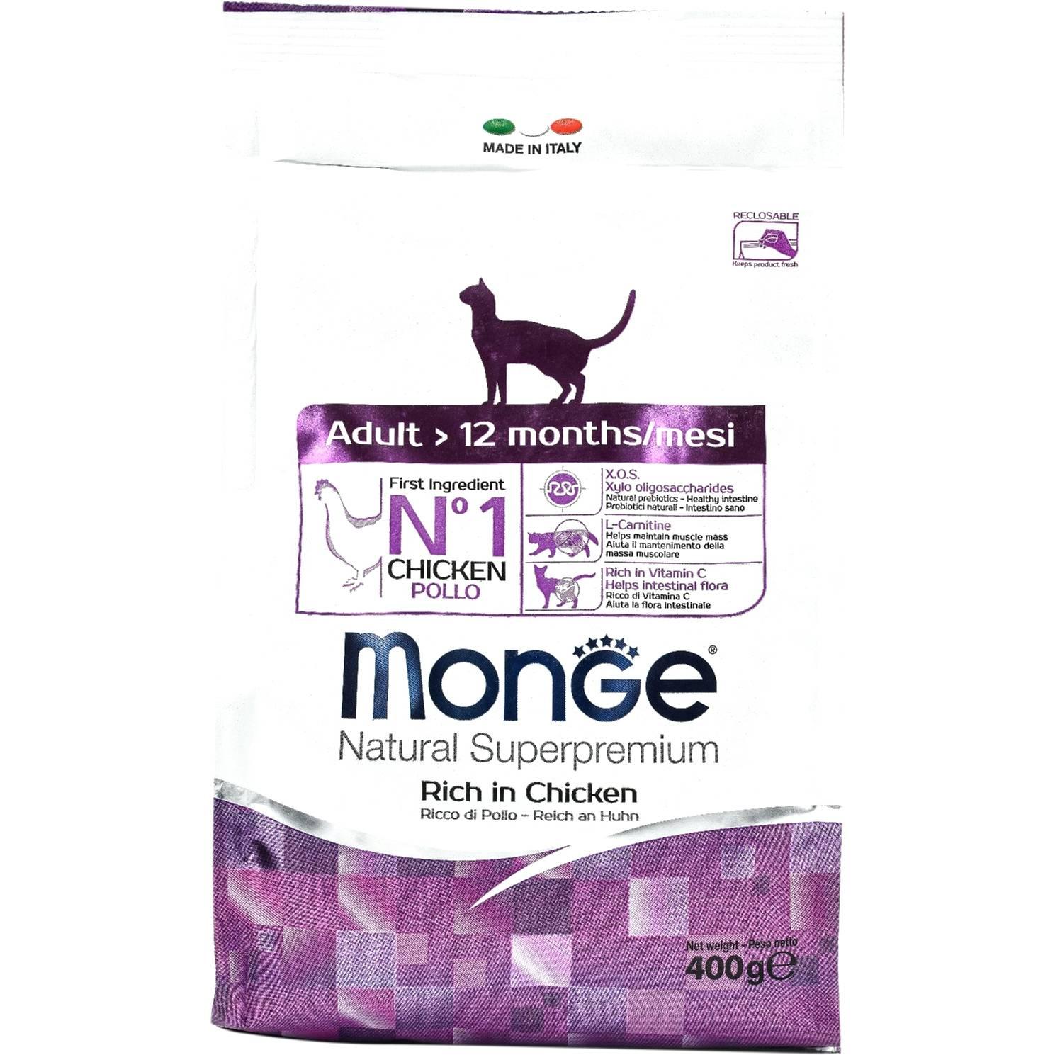 Все о корме для кошек «монж» (monge)