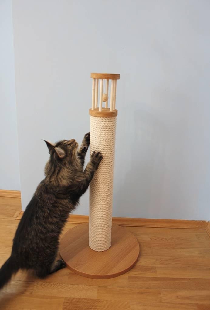 Когтеточка для кошек своими руками: варианты в домашних условиях