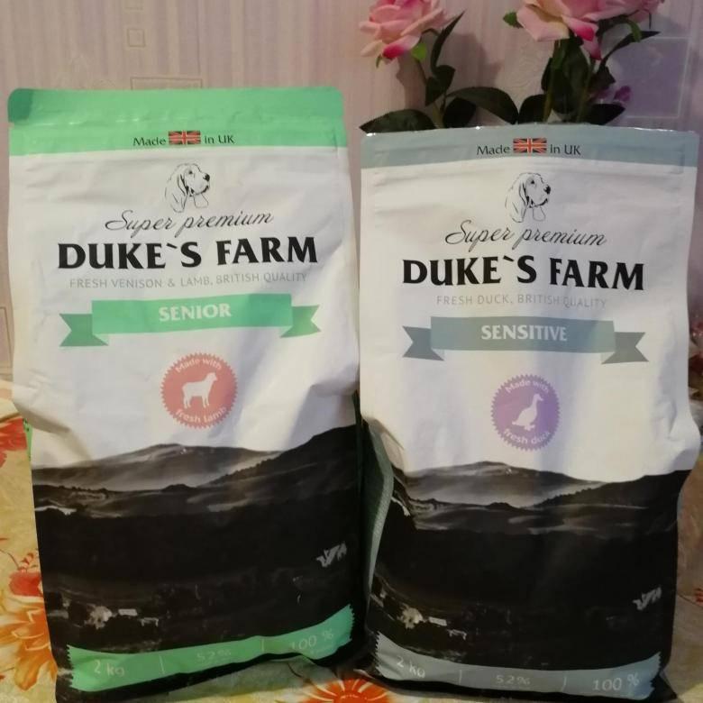 Dukes Farm: корм для собак, описание рациона