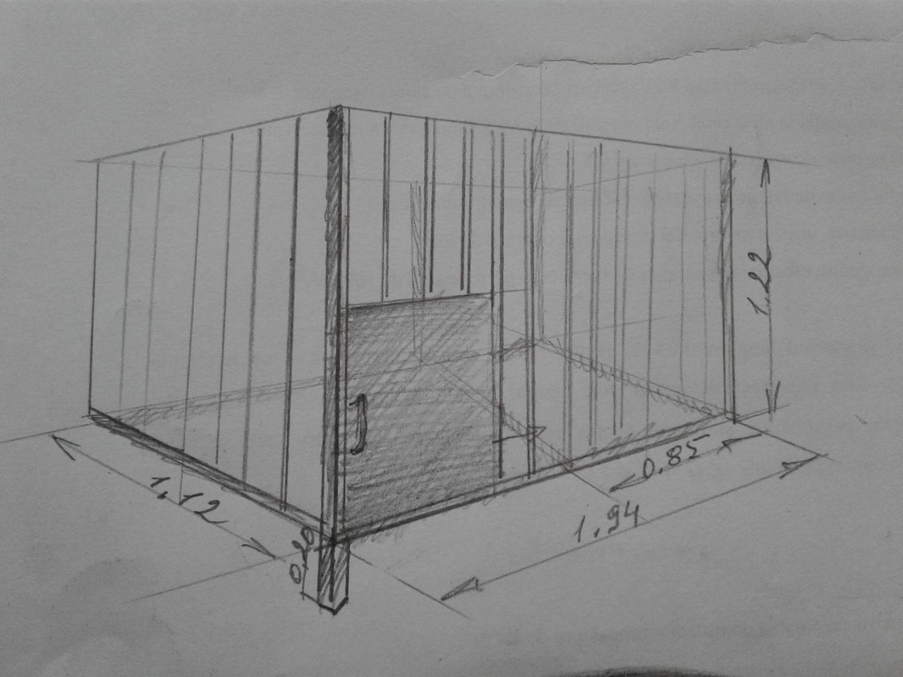 Размеры будки для немецкой овчарки – как построить своими руками