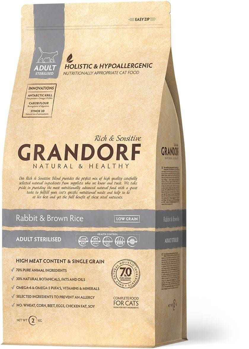Грандорф: корм для кошек и котят, для стерилизованных