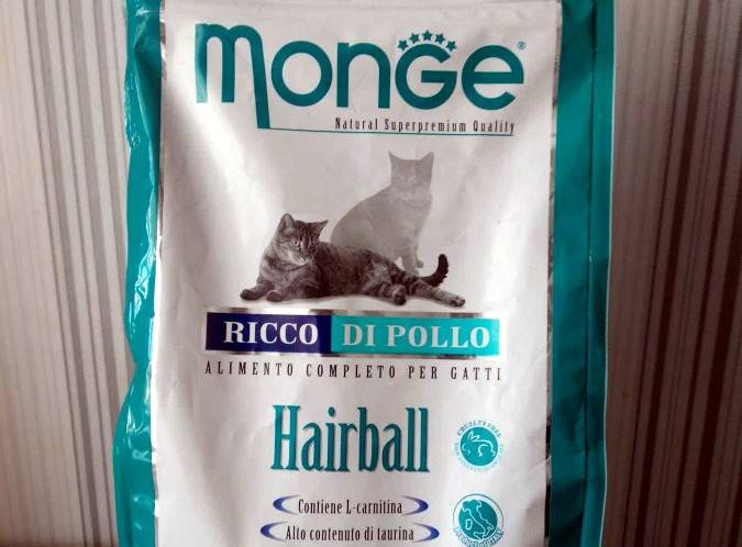 Монж: корм для кошек и котят, состав monge