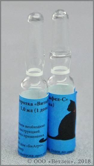 Витафел с для кошек — что это такое, инструкция по применению, показания и побочные эффекты