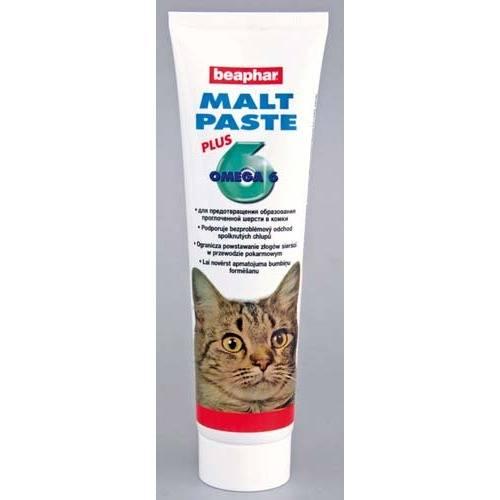 Выведение шерсти из желудка кошки