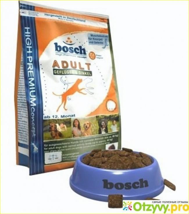 Виды корма бош для собак