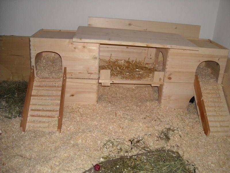 Домик для морской свинки своими руками (18 фото): как сделать мягкий дом по чертежам? особенности самодельных домиков