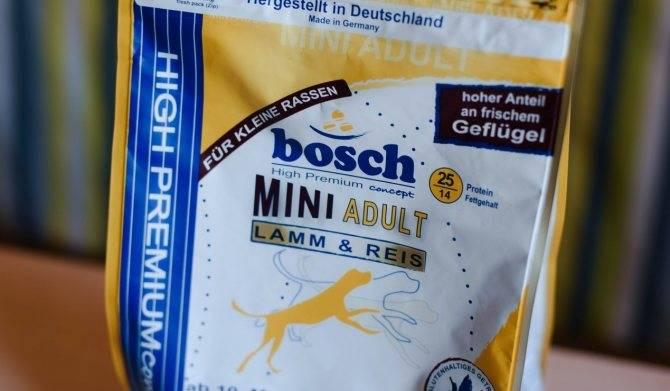 Все о корме для взрослых собак и щенков «бош» (bosch)