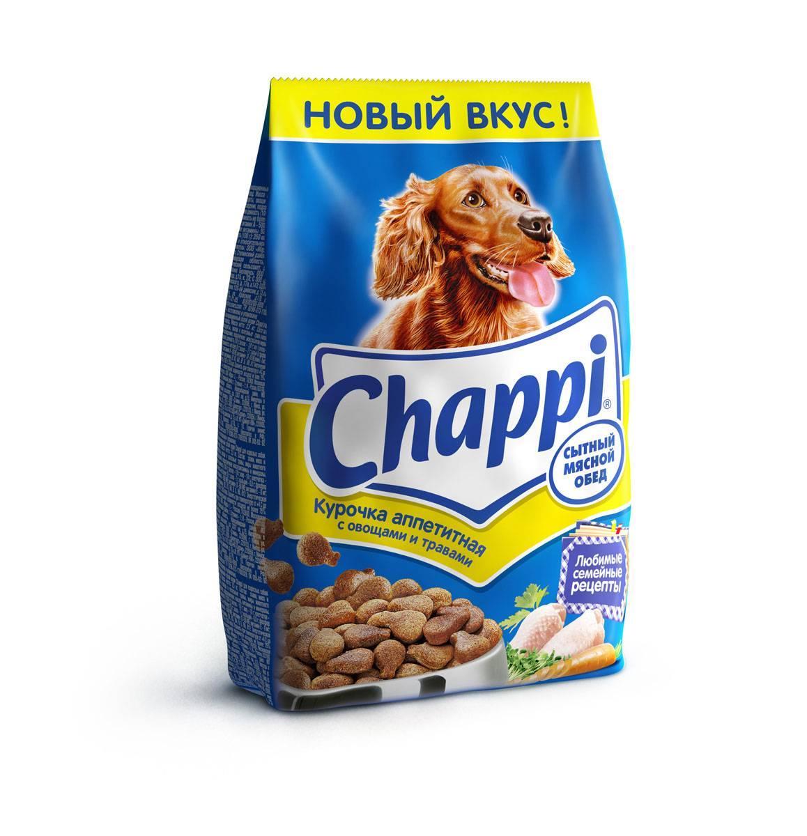 Корм chappi («чаппи») для собак: описание и обзор линейки, производитель, состав, плюсы и минусы