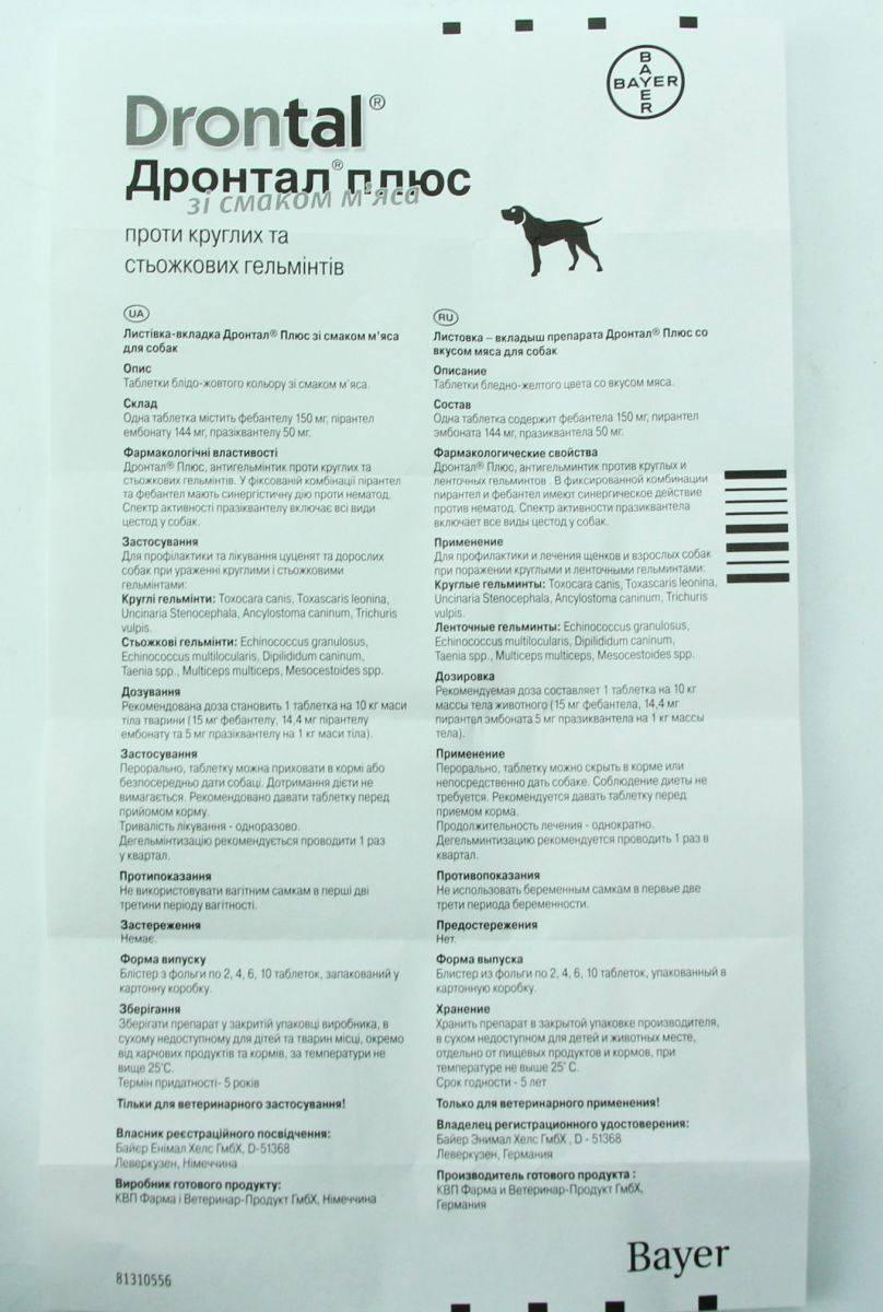 Обзор препарата дронтал для кошек: инструкция по применению, отзывы