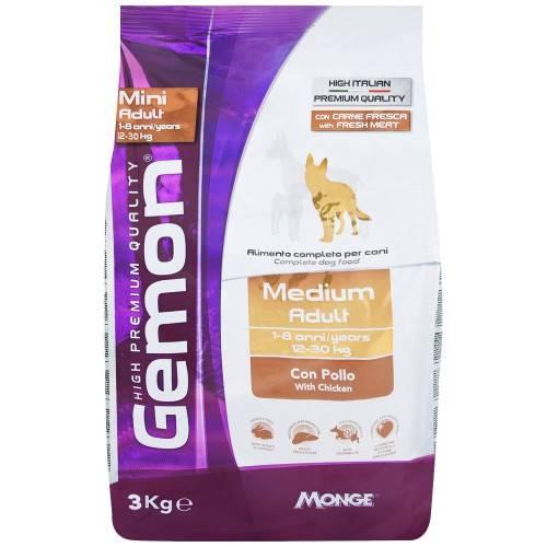 Корм джимон (gemon) для собак | состав, цена, отзывы