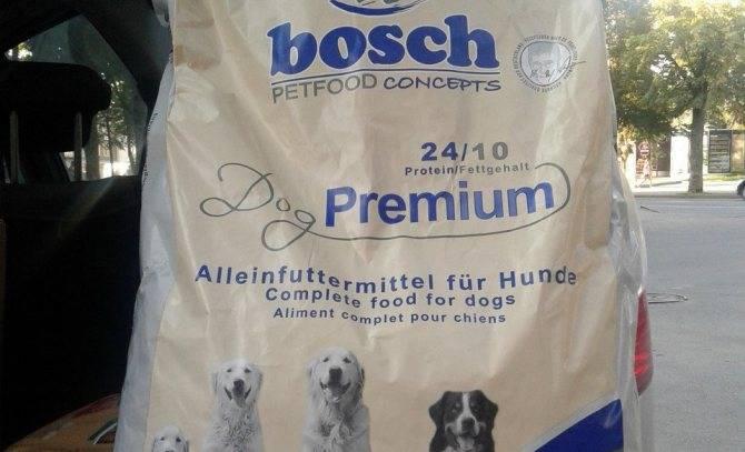 Корм для собак бош (bosch): отзывы, состав, цены