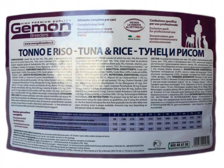 Обзор сухого корма gemon