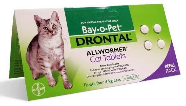 «дронтал» для кошек: инструкция по применению препарата
