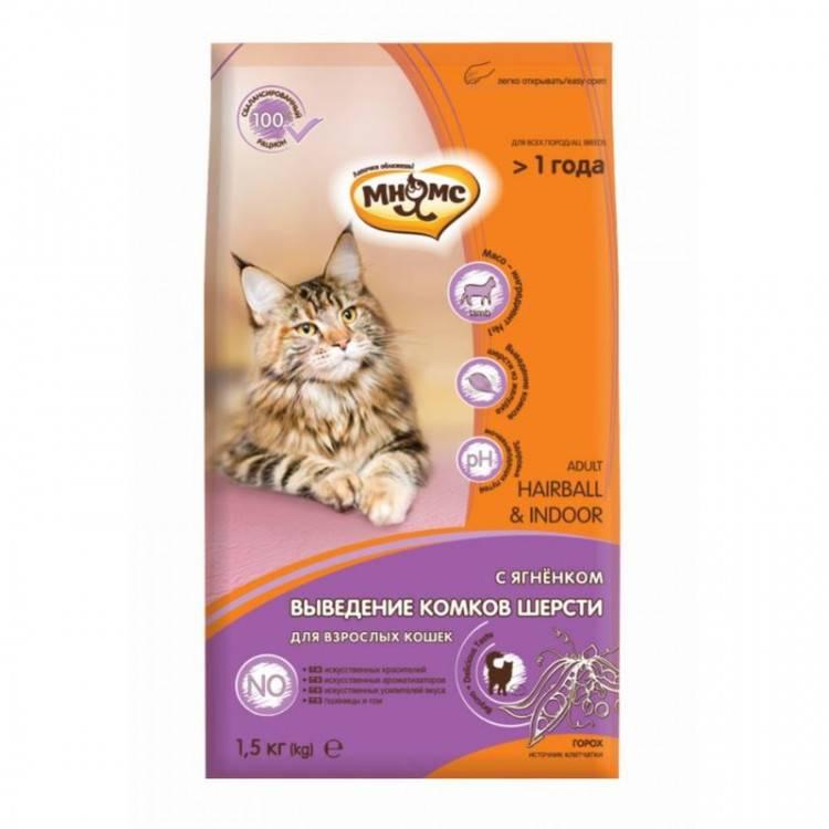 Какие корма для кошек помогают выведению шерсти из желудка